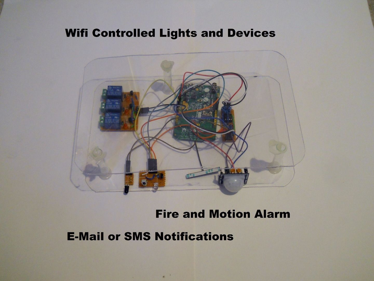 Arduino Home Automation Wiring Diagram Explained Diagrams Images Of Phone Controlled Via Wifi House