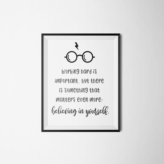 Harry Potter Inspirational Quote Print Instant Digital Download Gift Gorgeous Dwnlrd Some Mesningful Images