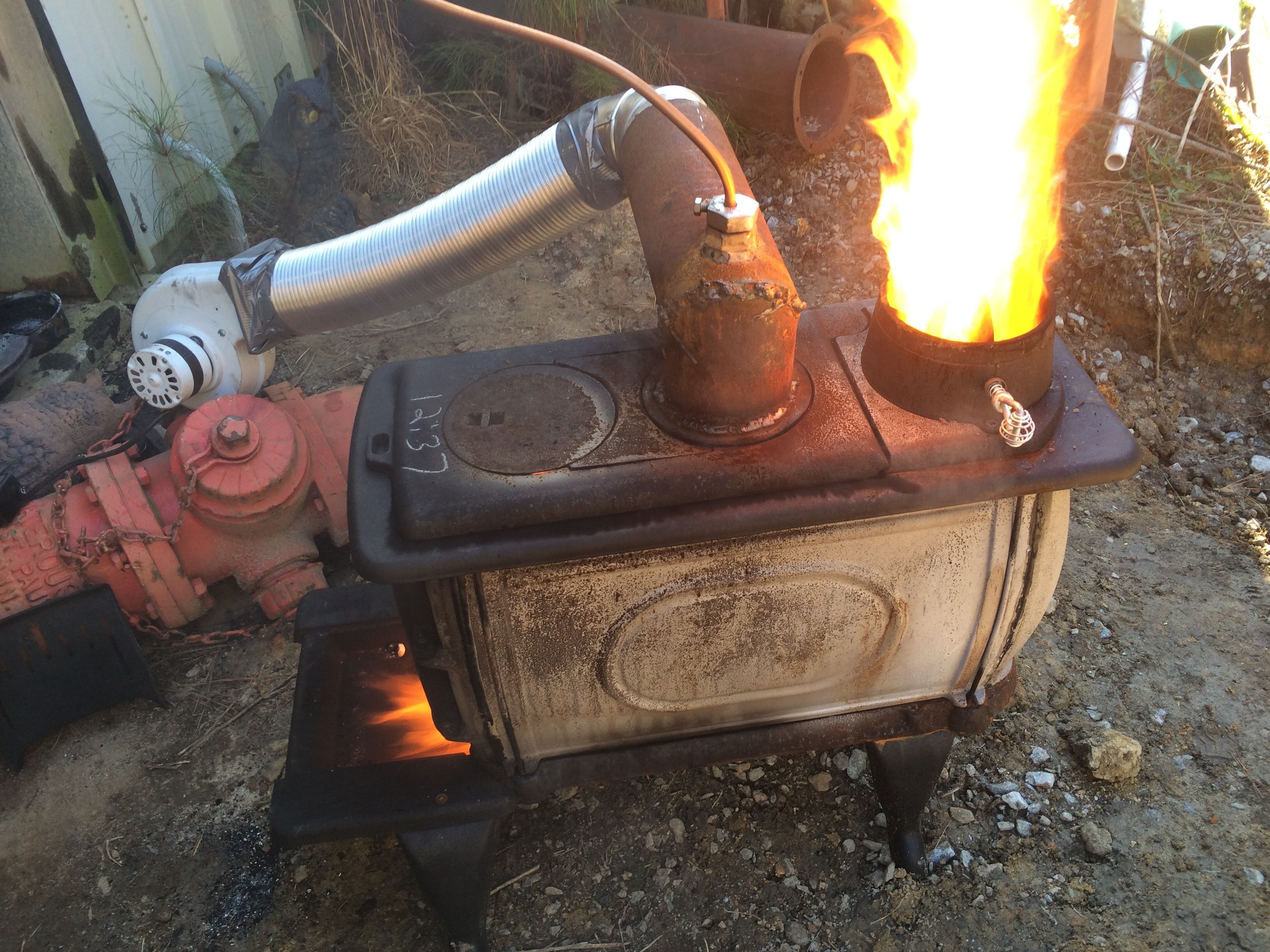 Pin On Waste Motor Oil Drip Heater Bertha Made From An Old
