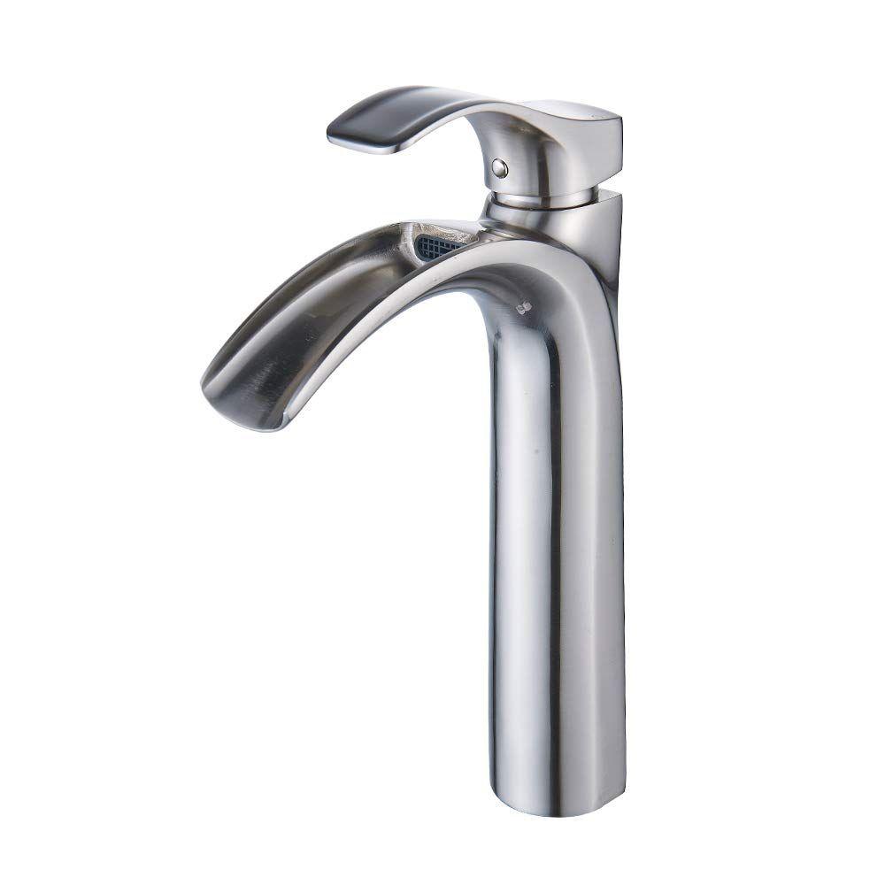 Yodel Single Handle Waterfall Bathroom Sink Faucet Vessel Faucet