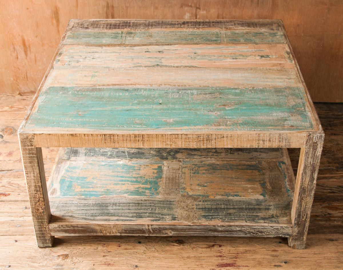 Rustic Distressed Coffee Table Coffee Tables Round