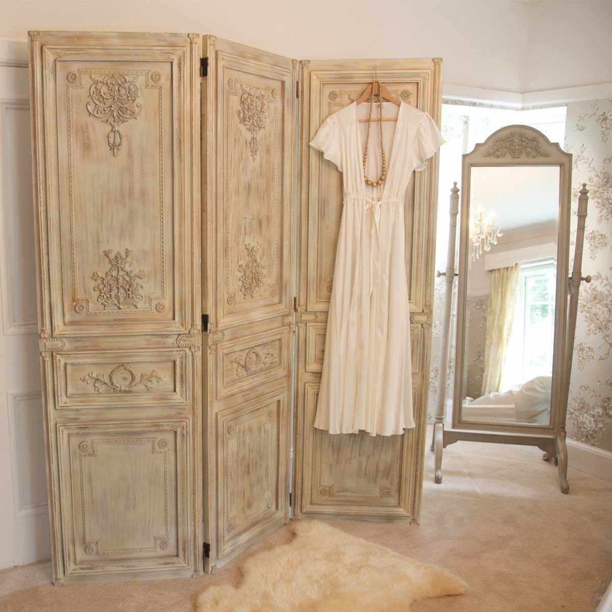 Limed wooden dressing screen carved wood dressing screen and screens