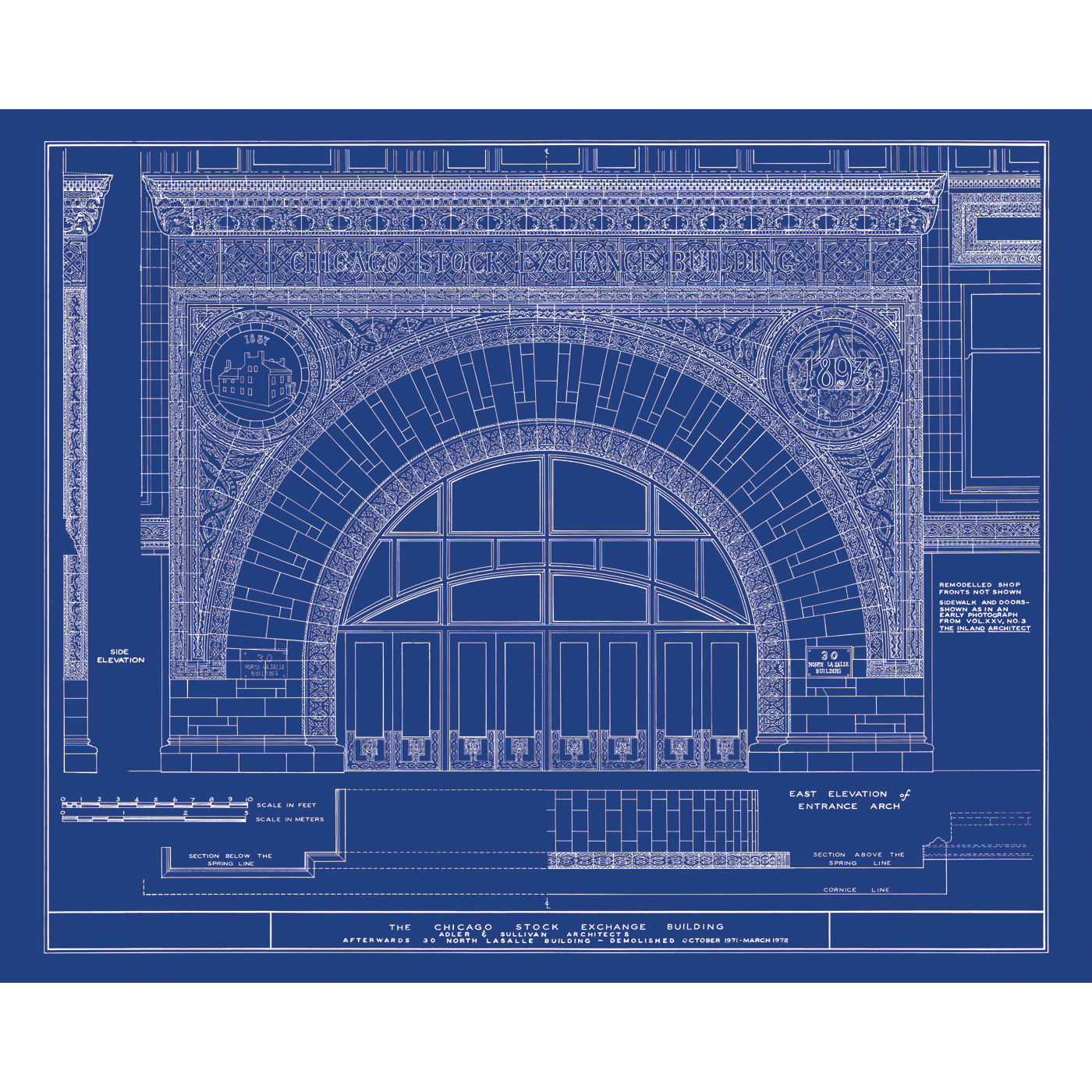 chicago home blueprints. Chicago Stock Exchange  IL Architectural Blueprint For