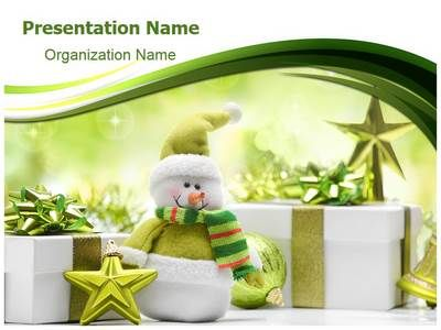 Check out our professionally designed Christmas Snowman #PPT - winter powerpoint template