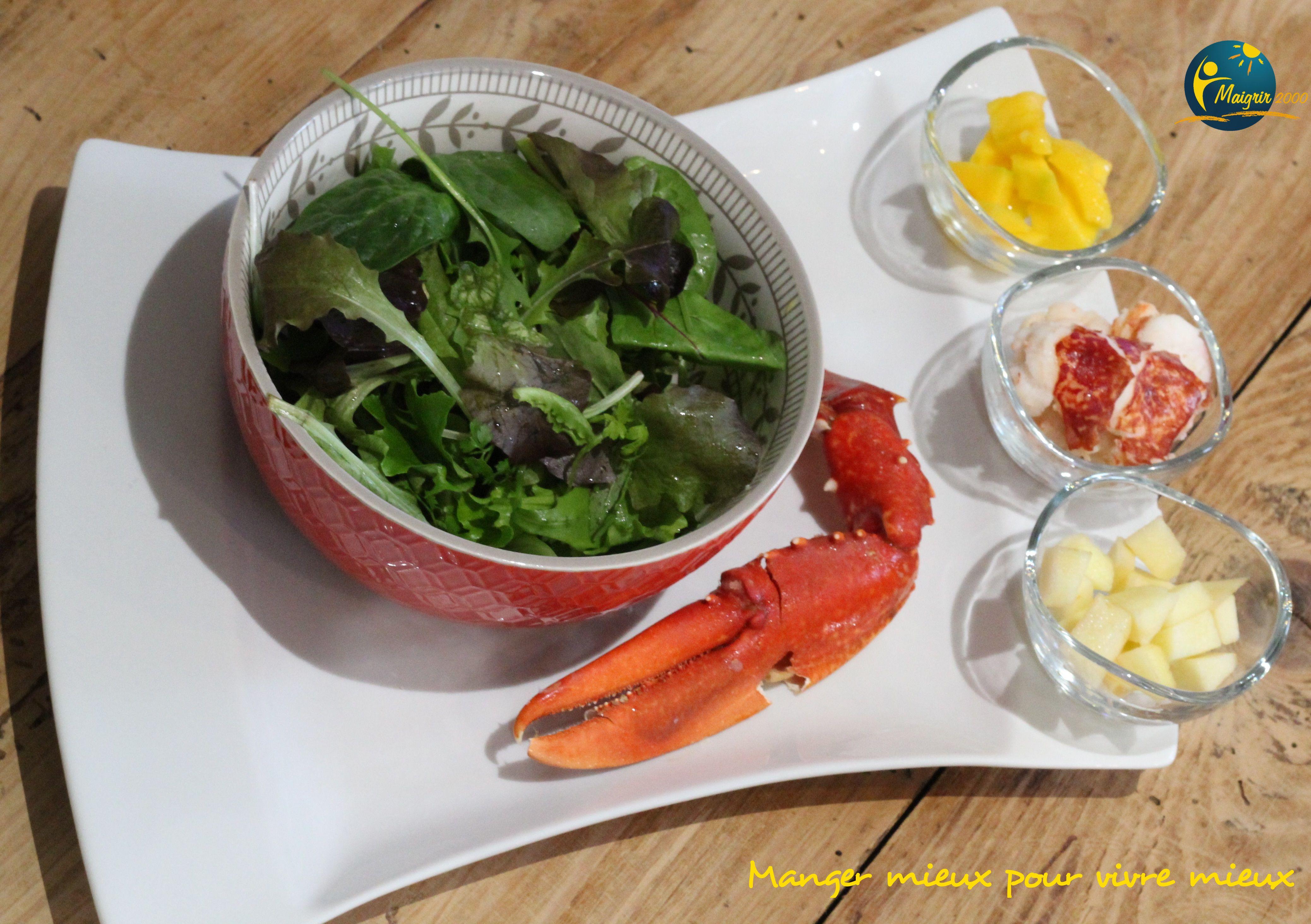 Salade de homard Maigrir 2000 : Salade de homard, idéale