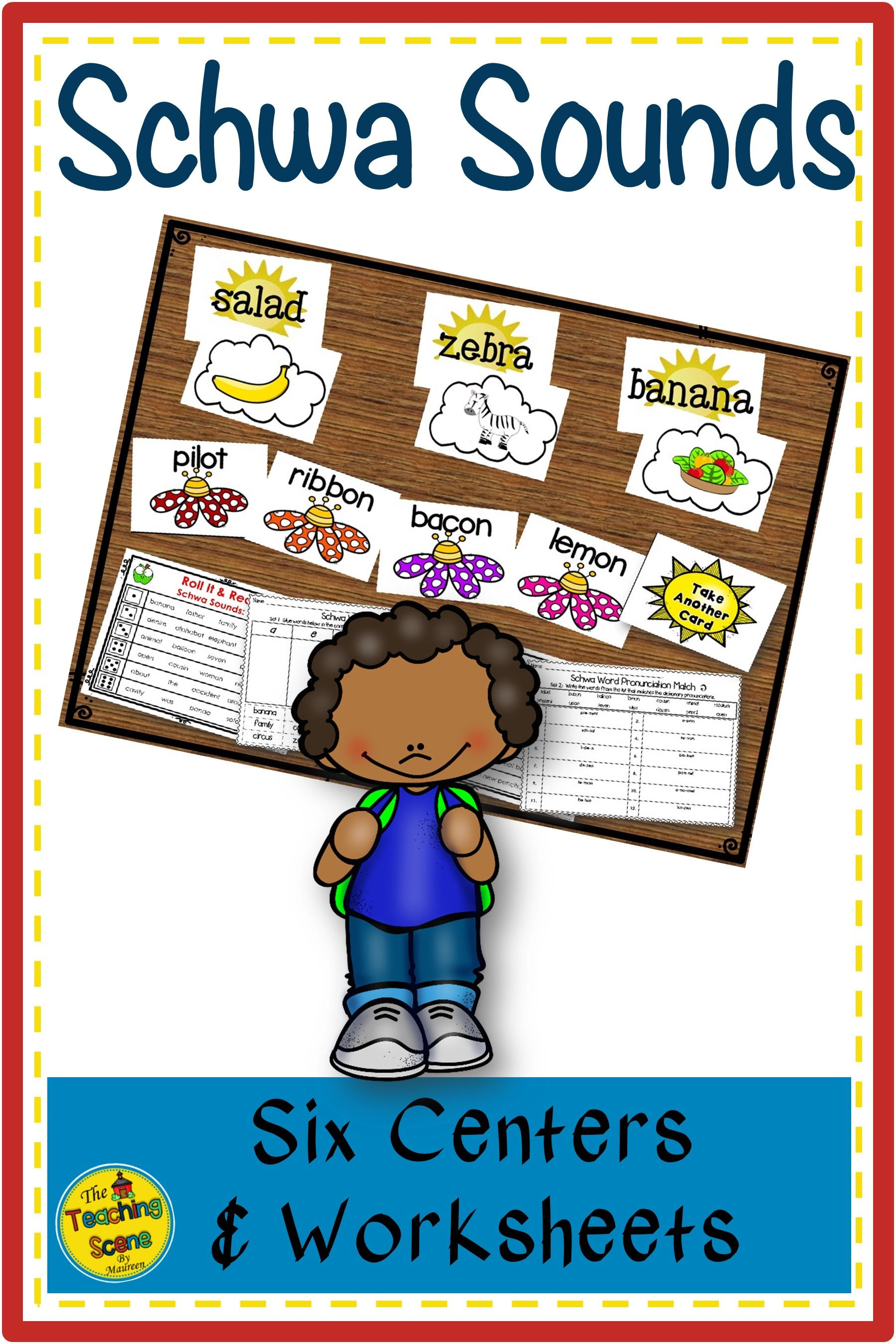Schwa Sound Centers Activities Amp Worksheets In