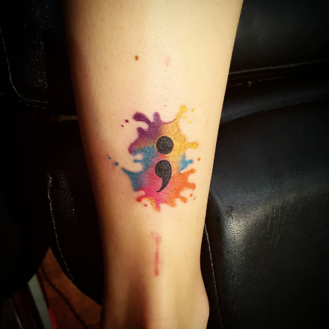 Lengouement pour le tatouage point virgule femme fait beaucoup parler Découvrez le project semicolon signification de tatouages femme avec point virgule