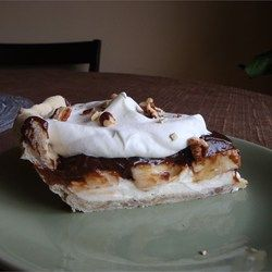 Chocolate Banana Pie Recipe #bananapie