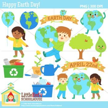 Clip Art - Happy Earth Day! - spring-themed clipart $
