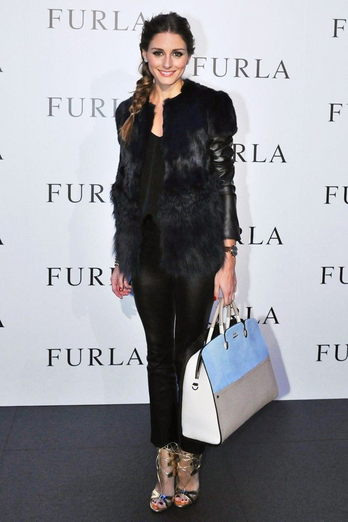 Olivia Palermo is wearing Ashley B jacket, Aquazzura sandals and Daryl K pants. 4