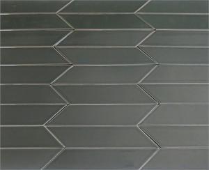 Ceramic Chevron Subway Tile For Kitchen Backsplash Or Bathroom Tile In Grey  Color Carbon