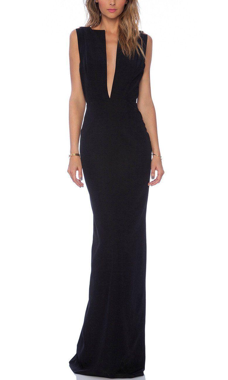 Selene maxi prom dress in black in glamour puss pinterest
