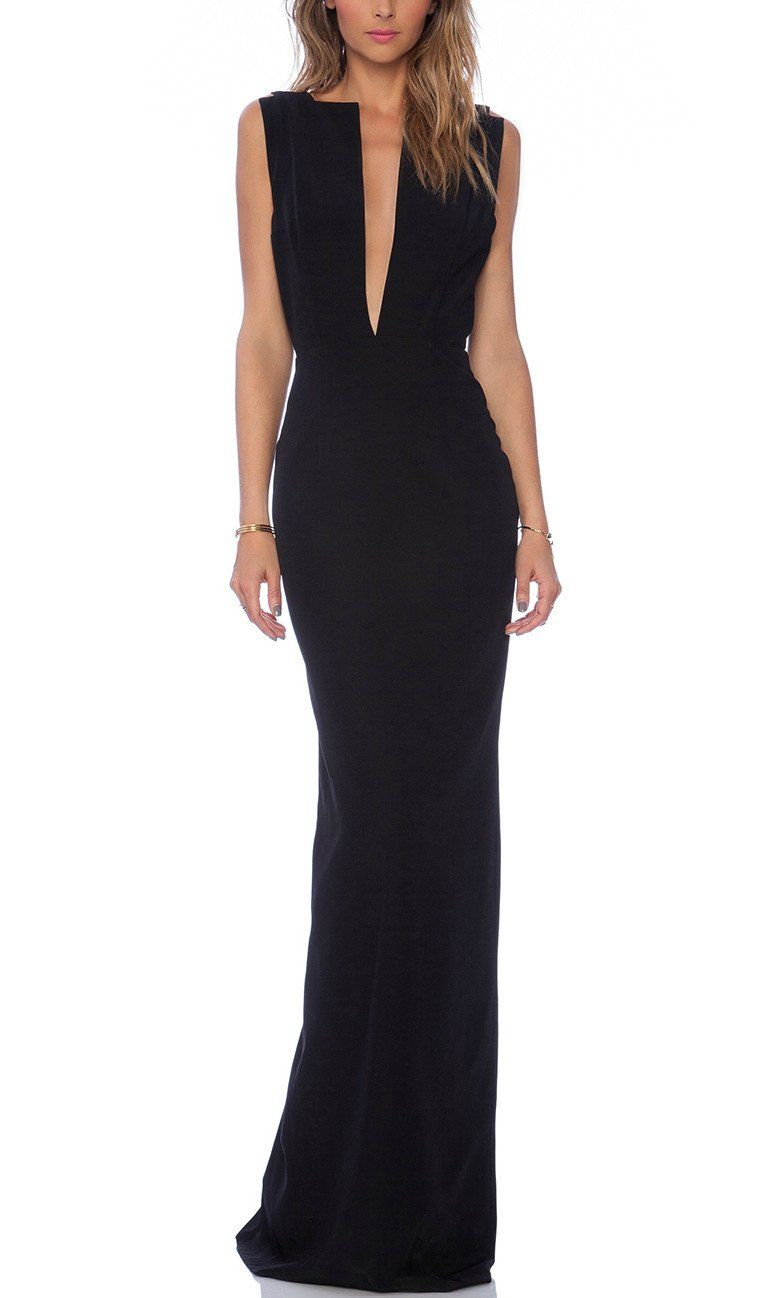 Selene maxi prom dress in black red carpet fashionistas