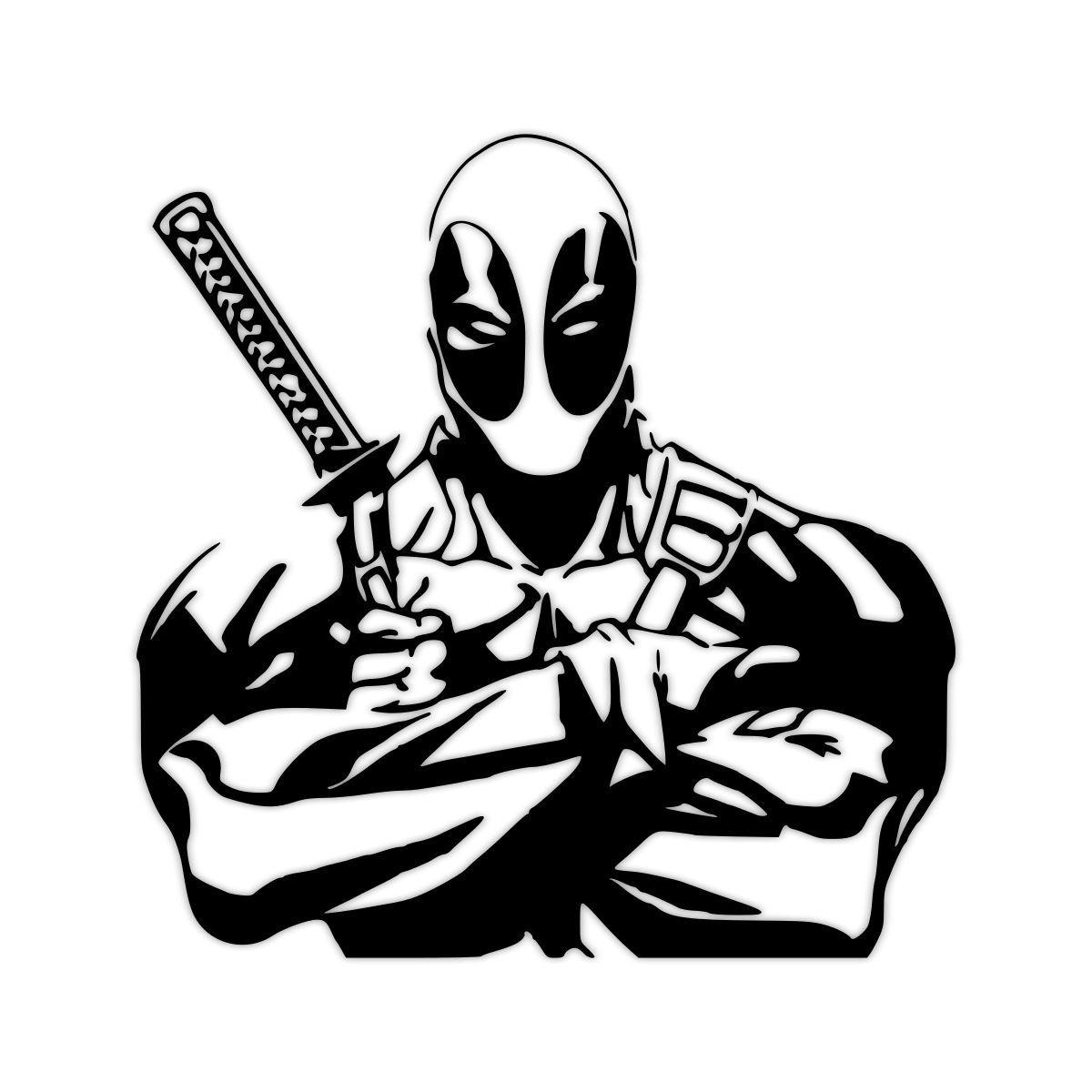Marvel Deadpool Ausmalbilder Gratis: Bewundern Sie Deadpool Decal Von MeadowFlowerDesigns Auf