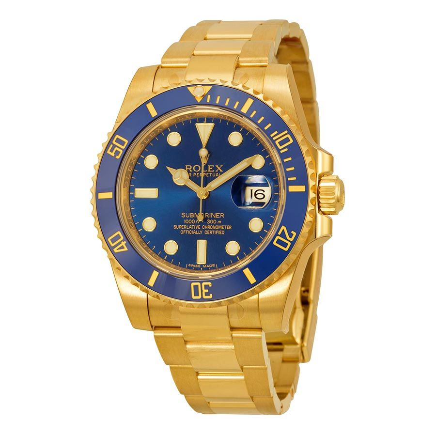 Rolex for sale cheap - Cheap Rolex Submariner Price Rolex Submariner Blue Dial 18kt Yellow Gold Oyster Bracelet Mens Watch