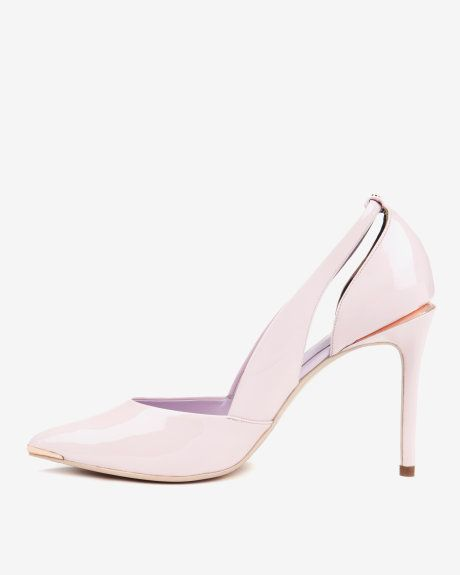 Cut out leather court shoes - Light Pink  185a68f65