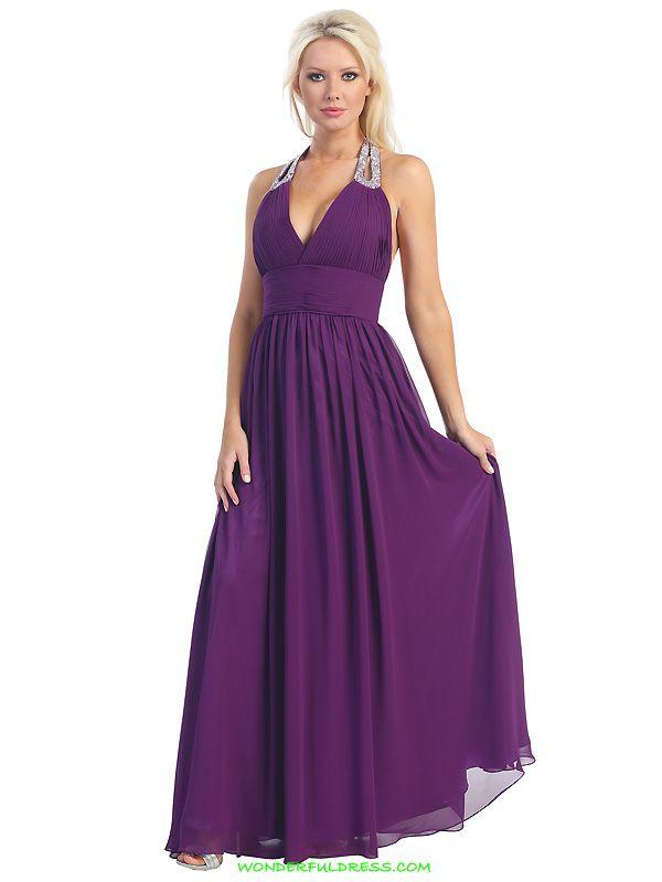 Purple Maid of Honor Dress