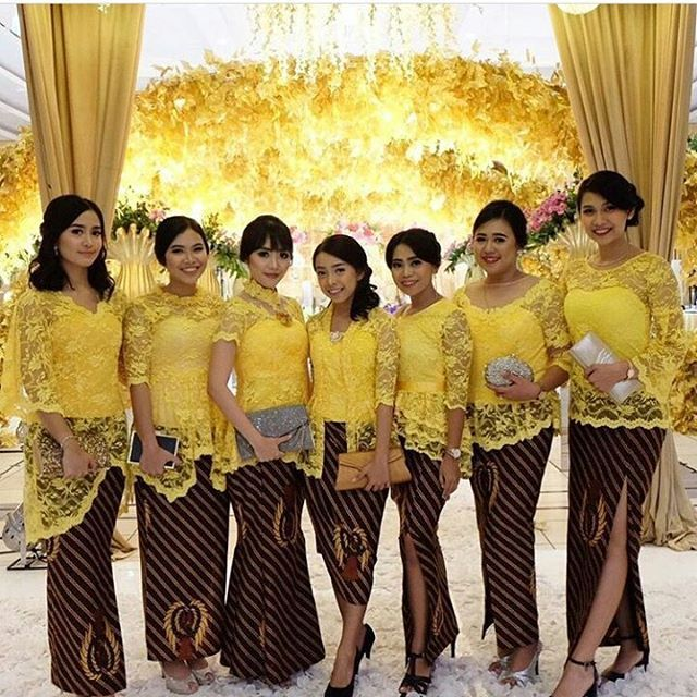 Rok Duyung No 3 Dr Kiri Model Kebaya Modern Broklat Kuning Rok