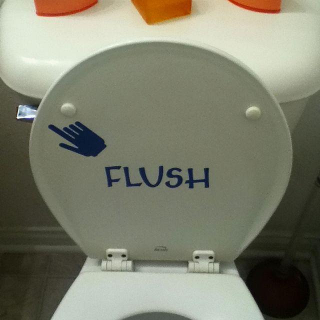 Bathroom Reminder Great For Kids