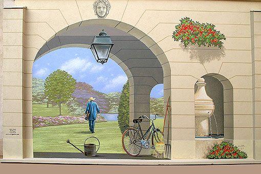 Resultado de imagen para trompe loeil gothic window and flowers