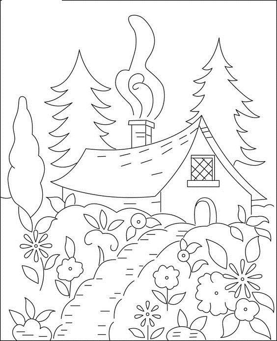 Riscos Desenhos De Paisagens Para Pintar Padroes De Bordado