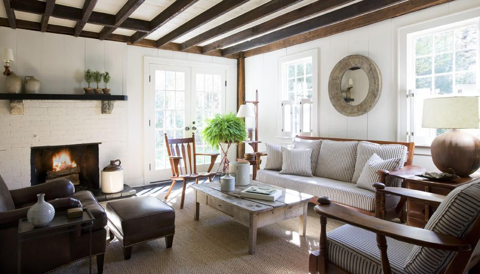 What is the right decor style for you cottage interiors for Modern cottage living room ideas