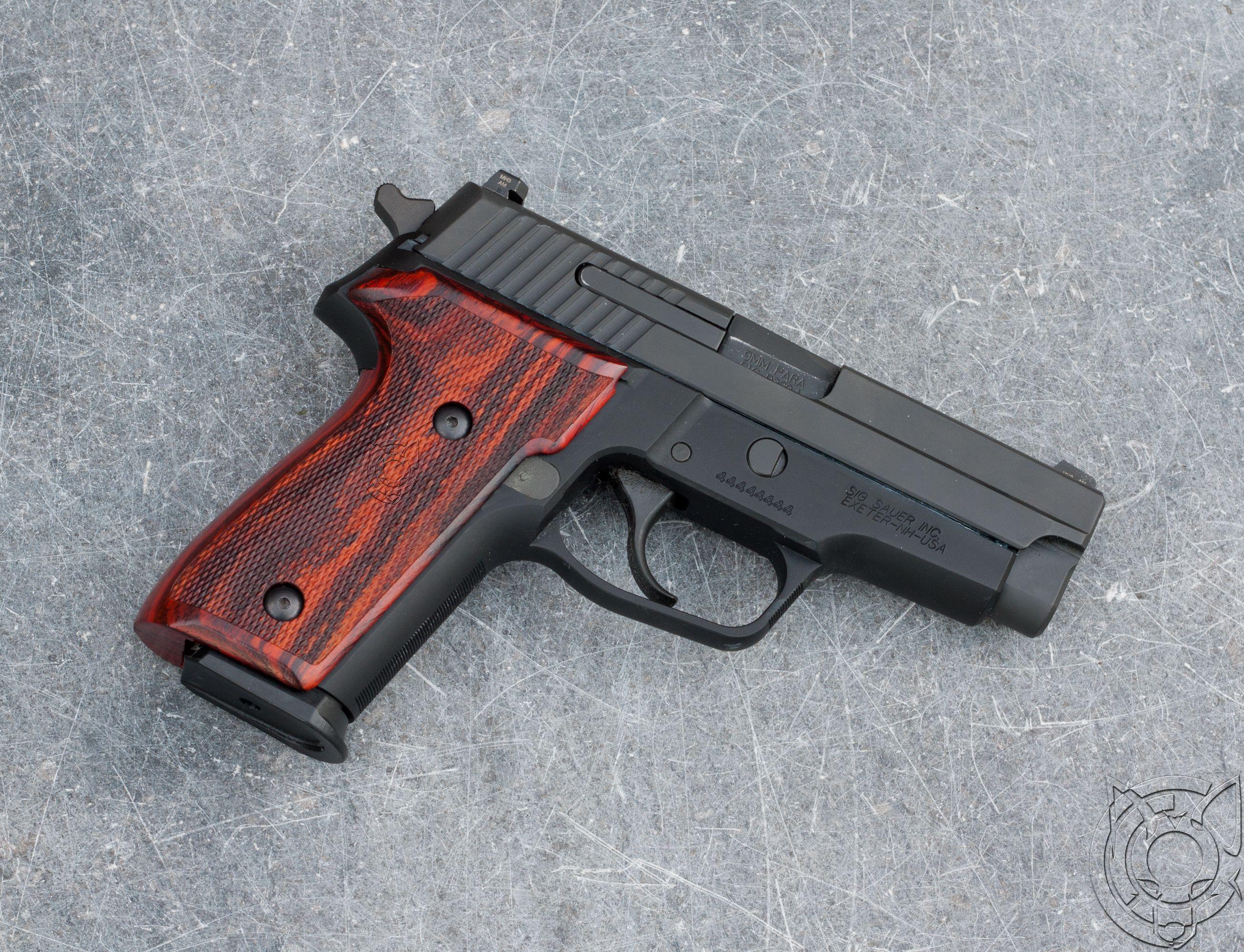 Sig sauer m11 a1 cocobolo wood grips [2614x2000][oc] firearm