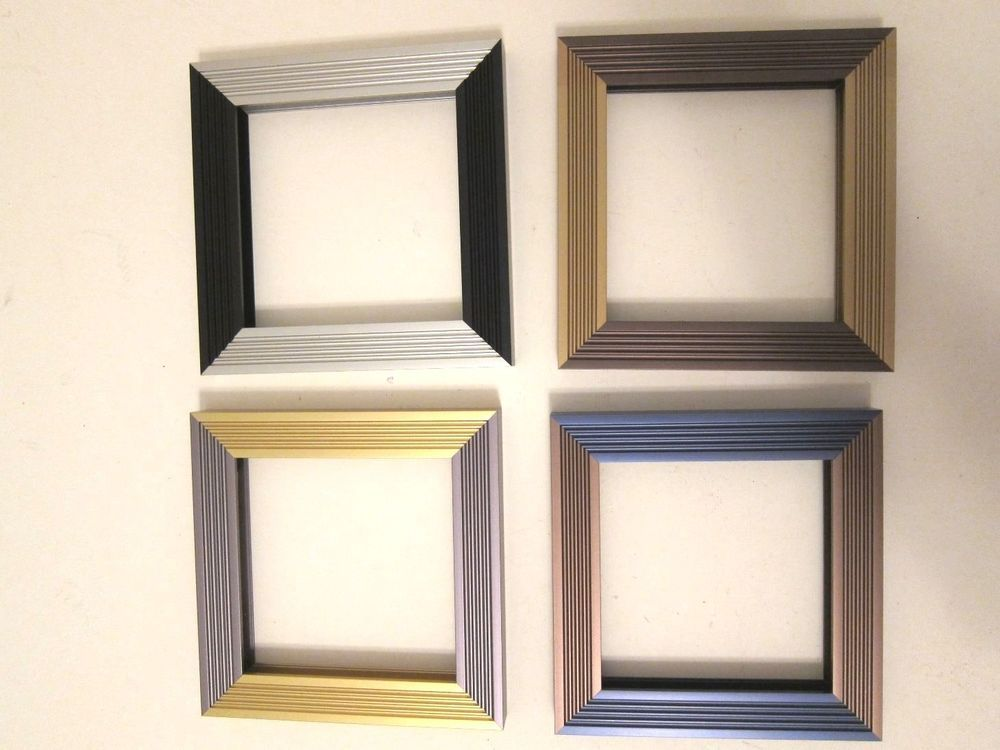 4 square 5x5 Metal Frames Nielsen Gold Walnut Bronze Black Silver ...