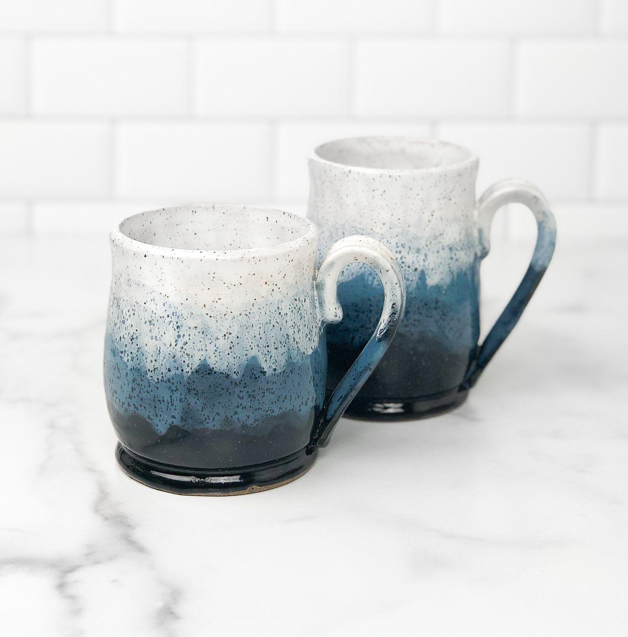 Handmade Misty Mountains Blue Pottery Mug