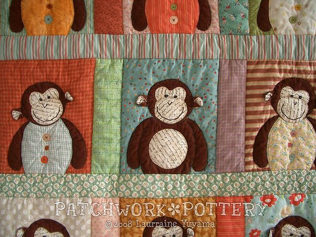 Monkey Quilt 2 - monkeys | Monkey, Book quilt and Quilt baby : monkey quilt pattern - Adamdwight.com