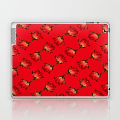 roter Rosentraum Laptop & iPad Skin by DagmarMarina - $25.00