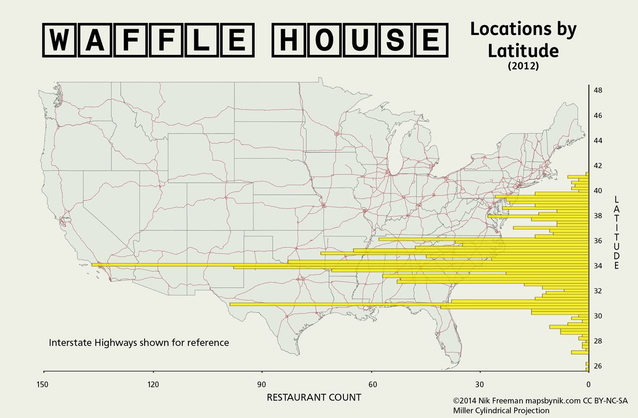 Waffle House by Latitude After the seriousness of the Nobody ...
