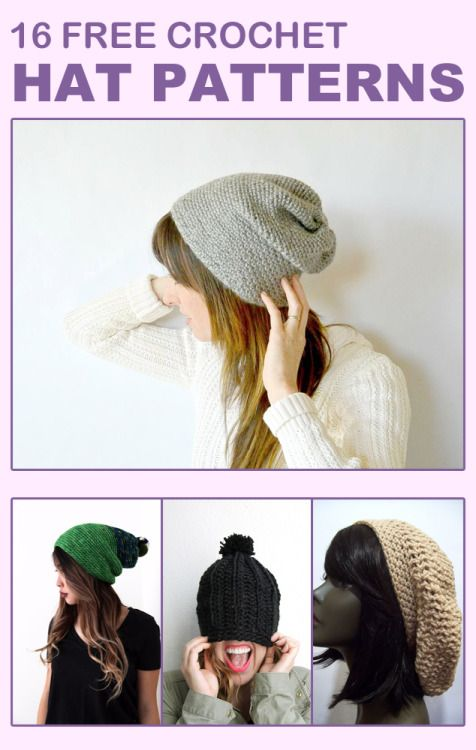 16 FREE CROCHET HAT PATTERNS FOR ADULTS | berete | Pinterest ...