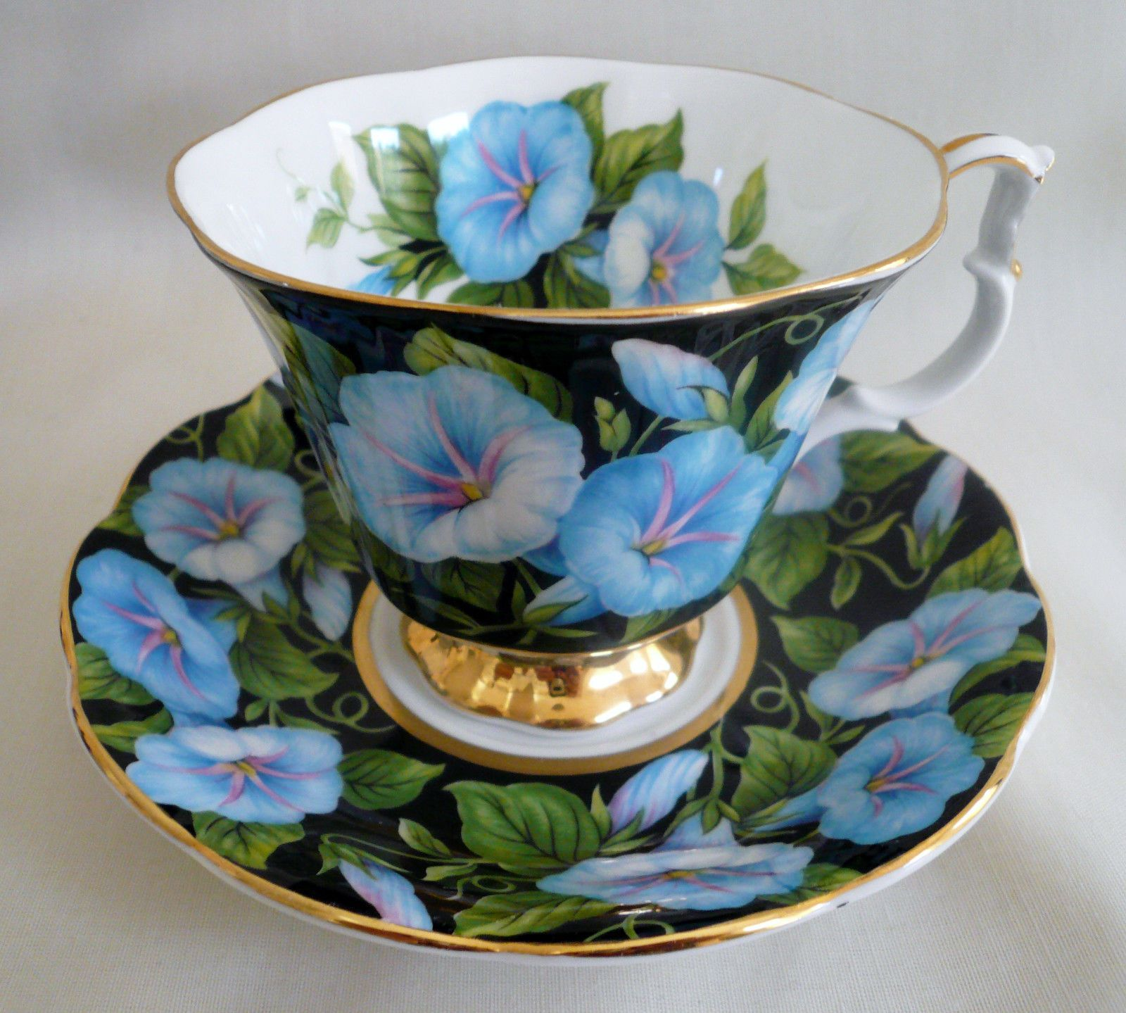 Royal Albert Flora Series Morning Glory Chintz Floral Teacup Cup Saucer Tea Tea Cups Tea Antique Tea Cups