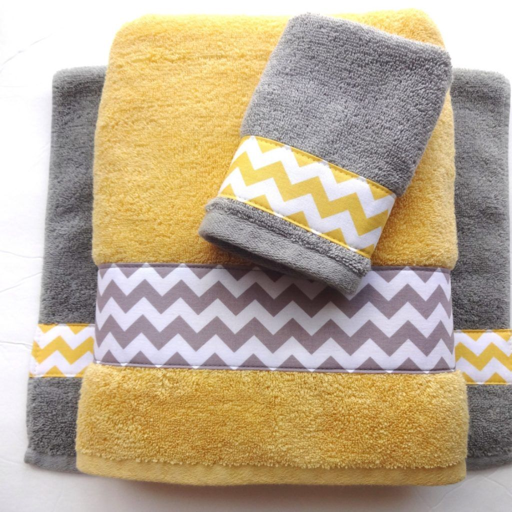 Blue And Yellow Striped Bath Towels Yellow Towels Yellow Bath