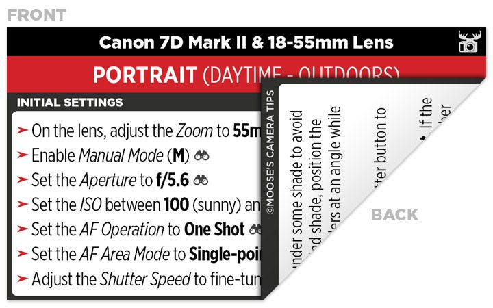 Sample Canon 7D Mark II Cheat Sheet | Photography | Camera nikon