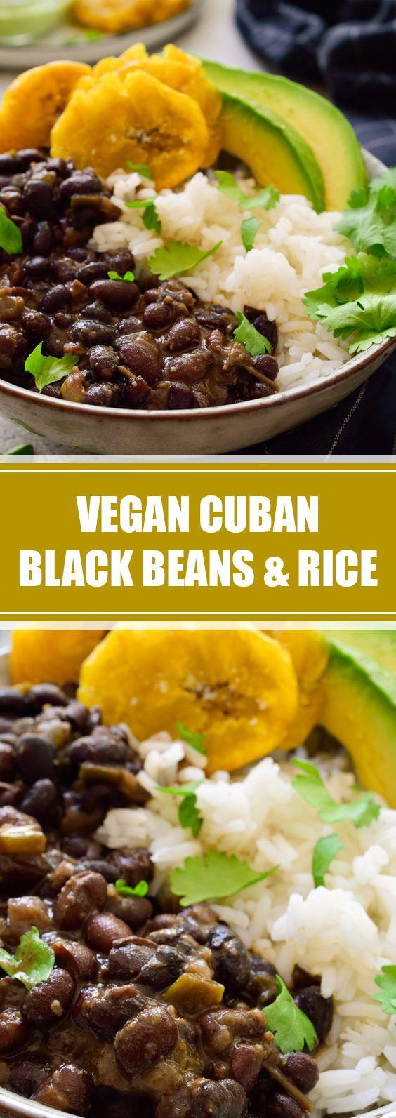 Vegan Cuban Black Beans & Rice - tastyandhealty.club #cubanrice