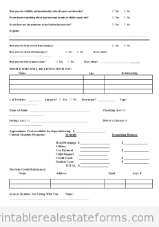 free preliminary credit application printable real estate forms