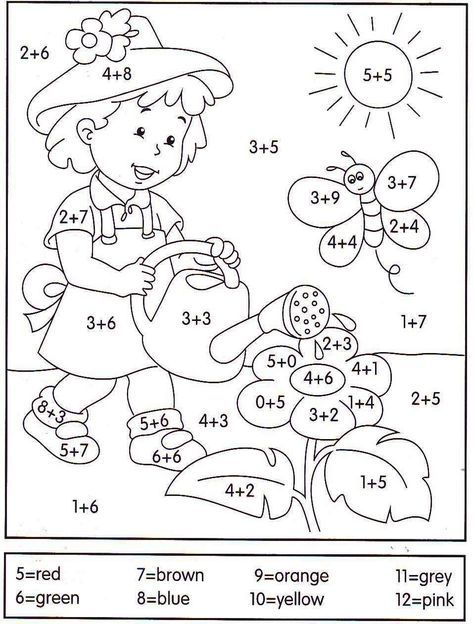 Spring Color By Number Page