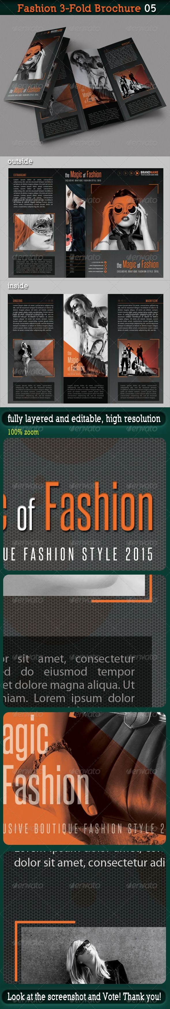 Fashion Fold Brochure   Brochures Brochure Template And Tri