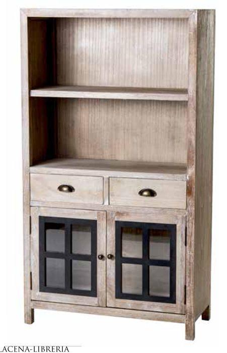 Vitrina colonial con estantes para salones de estilo for Salones con vitrinas