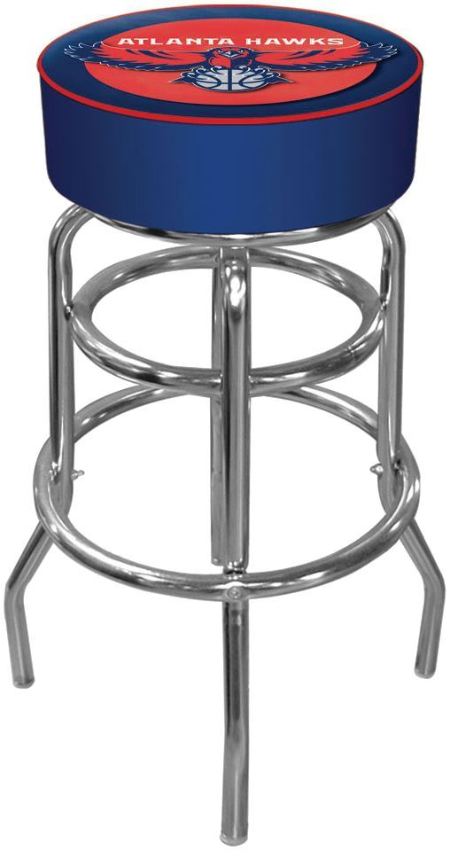 Outstanding Trademark Games Atlanta Hawks Padded Bar Stool Products Andrewgaddart Wooden Chair Designs For Living Room Andrewgaddartcom