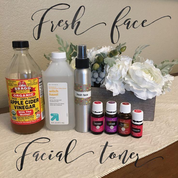 Fresh Face Facial Toner Apple Cider Vinegar, Witch Hazel