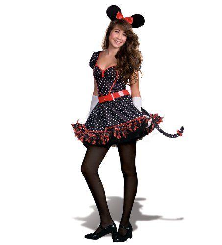 Dreamgirl Mousin Around Teen Costume Large 1113 Black Possible - cute teenage halloween costume ideas