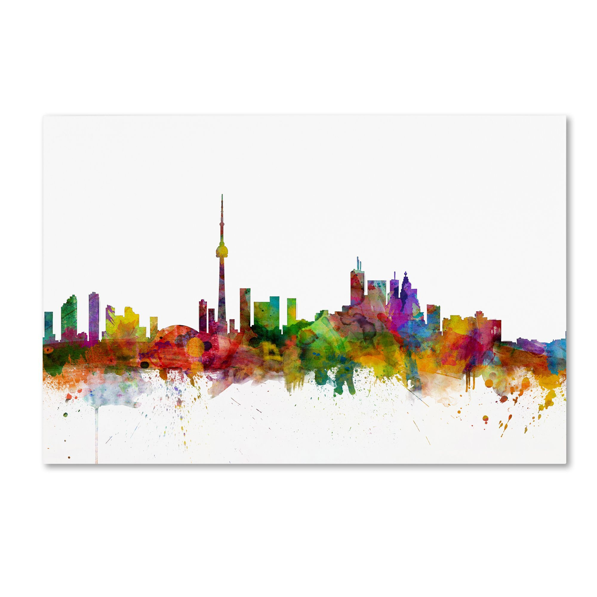 Overstock Com Online Shopping Bedding Furniture Electronics Jewelry Clothing More Art Toronto Skyline Art Toronto Skyline