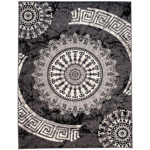 Taurean Dark Grey Rug 17 Stories Rug Size: Rectangle 180 x 250cm