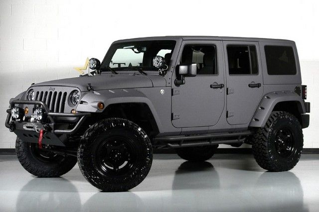 Matte Grey Jeep Wrangler Unlimited Jeep Wrangler Unlimited Jeep