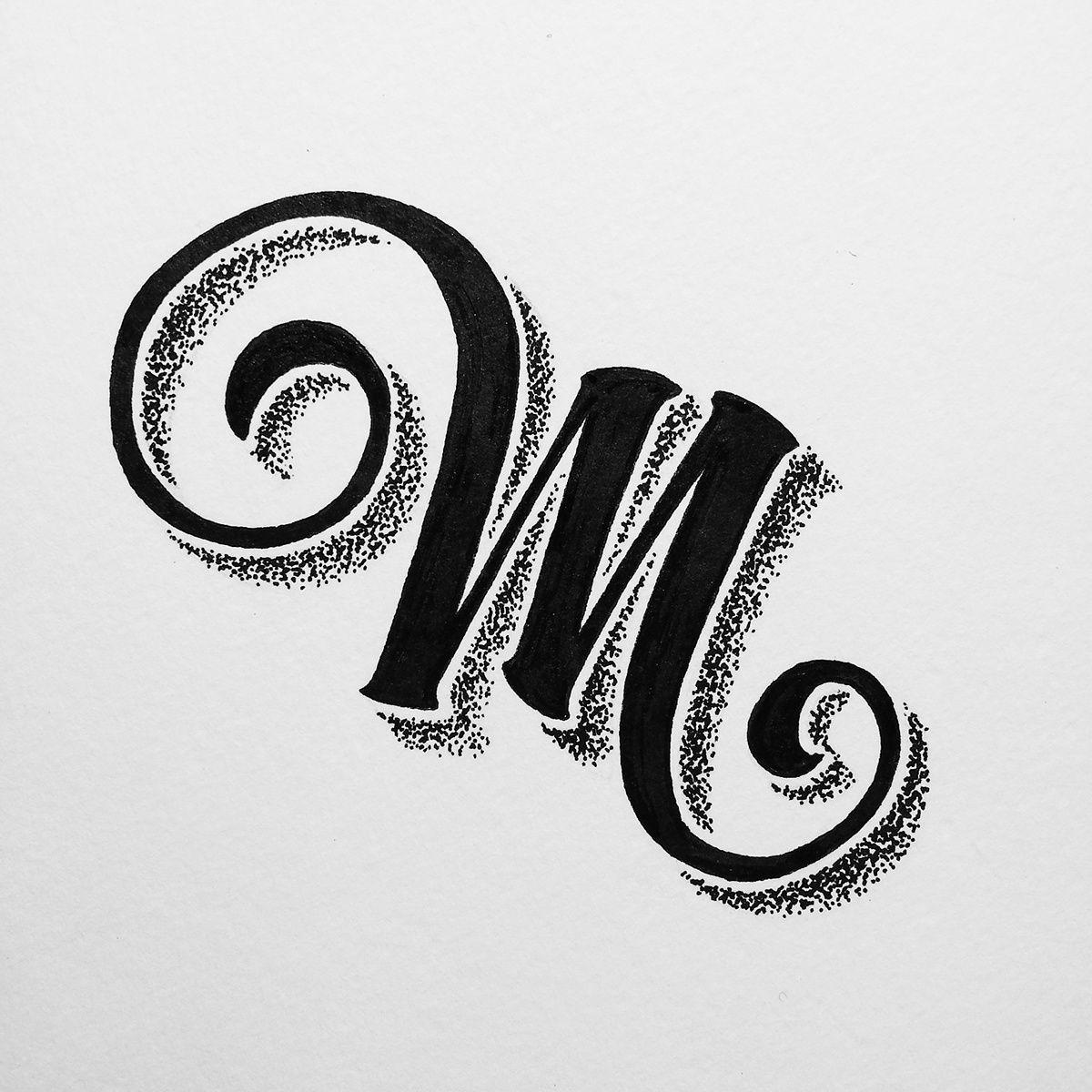 Hand Made Letters on Behance M letter design, Lettering