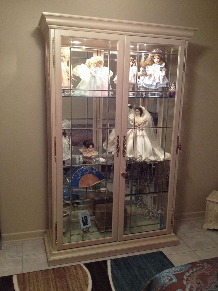 Lighted Curio Cabinet Wood Gl Made In Usa By Philip Reinsch