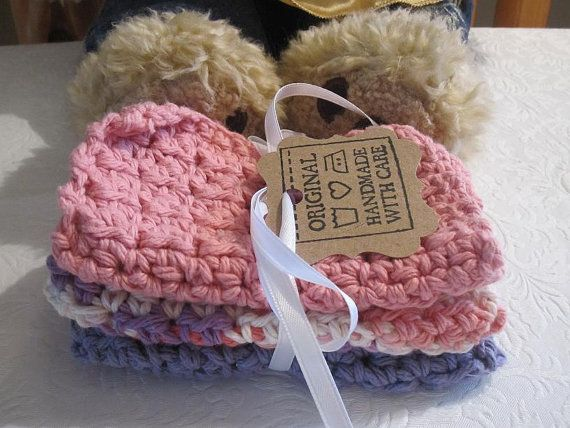 Crocheted Baby Washcloths Princess By Iggychocs On Etsy 400